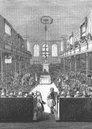 LONDON: House of Commons, George II, antique print, 1845
